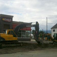 Digg'N 4 U Contracting Ltd | Excavator at Carl's Jr.